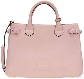 Burberry Medium Banner Calfskin Leather Tote- Pale Orchid