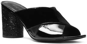 Michael Kors MICHAEL Women's Cher Patent Leather Mid Heel Mules