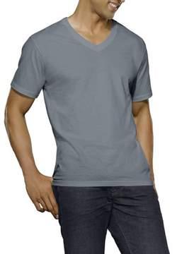 Fruit of the Loom New Reinvented Tee! Big Men's Black/Gray V-necks, 4-Pack