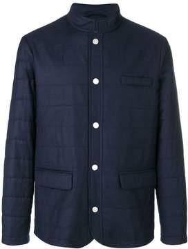 Eleventy padded buttoned jacket