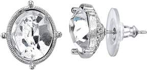 1928 Crystal Oval Stud Earrings