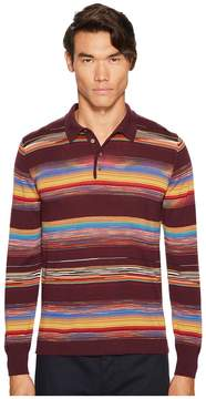 Missoni Riga Chevron Long Sleeve Polo Men's Sweater