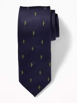 Old Navy Printed Jacquard Tie for Men