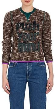 Kolor Women's Push Your Mind Brushed Wool Sweater