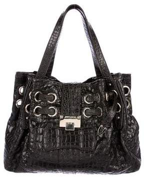 Jimmy Choo Embossed Riki Bag