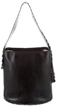 Roberto Cavalli Embossed Leather Hobo
