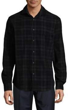 Black & Brown Black Brown Checkered Cotton Button-Down Shirt