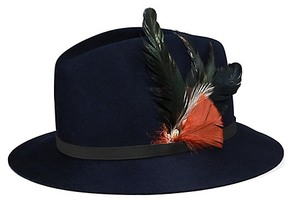 Tory Burch Feather Fedora