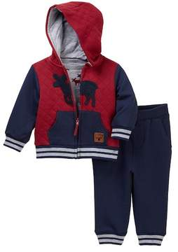 Little Me Moose 3-Piece Jogger Set (Baby Boys)