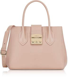 Furla Moonstone Leather Metropolis Small Tote Bag