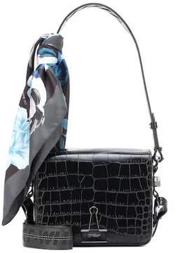 Off-White Binder Clip embossed leather shoulder bag
