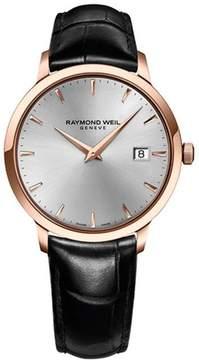 Raymond Weil Toccata 5488-PC5-65001 Men's Round Black Leather Watch
