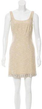 Cynthia Rowley Embellished Tweed Dress