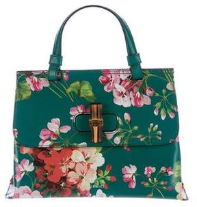 Gucci Blooms Small Bamboo Daily Bag - BLUE - STYLE
