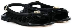 Roberto Cavalli petal detail sandals