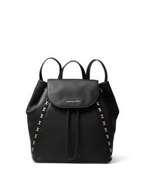 MICHAEL Michael Kors Sadie Medium Studded Leather Backpack - BLACK - STYLE