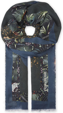 Zadig & Voltaire Maxy Patchwork jungle print scarf