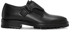 Lanvin Black Leather Monkstraps