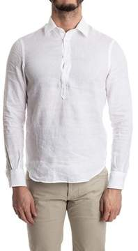 Aspesi Men's White Linen Shirt.