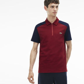 Lacoste Men's Made In France Regular Fit Colorblock Piqu Polo
