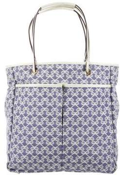 Anya Hindmarch Leather-Trimmed Monogram Tote