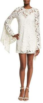 Camilla And Marc Farrow Bell-Sleeve Lace Cocktail Dress, Beige