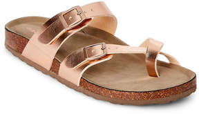 Madden-Girl Rose Gold Bryceee Footbed Sandals
