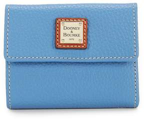 Dooney & Bourke Pebble Collection Small Credit Card Wallet - AZURE - STYLE