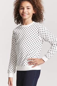 Forever 21 Girls Fleece Polka Dot Top (Kids)