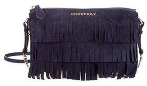 Burberry Peyton Fringe Crossbody Bag - BLUE - STYLE