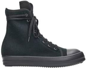 Drkshdw Black Wool Sneakers