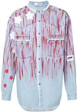 Faith Connexion star paint smudged denim shirt