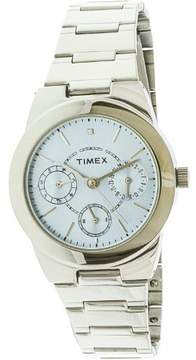Timex Women's Style Elevated T2N973 Silver Stainless-Steel Quartz Fashion Watch