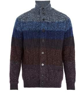 Missoni High-neck wool-blend cardigan