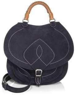 Maison Margiela Buckled Suede Shoulder Bag