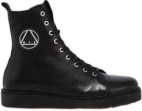 McQ Logo High Top Leather Sneakers