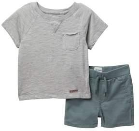 Hudson Cottom Slub Jersey Tee & Shorts (Baby Boys)