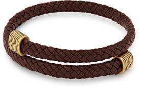 Alex and Ani Espresso Leather Wrap