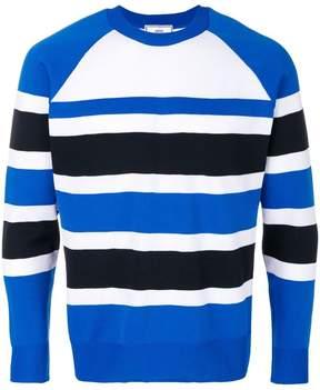 Ami Alexandre Mattiussi raglan sleeves striped sweater