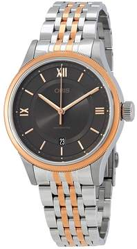 Oris Classic Grey Dial Automatic Men's Two Tone Steel Watch