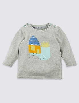 Marks and Spencer Pure Cotton House Knitted Jumper