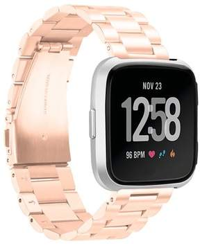 Fitbit Mignova Versa Watch Bands Metal, Stainless Steel Bracelet Accessory Replacement Strap Wristband for Versa Smartwatch (Rose Gold)