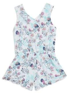 Splendid Toddler's, Little Girl's& Girl's Floral-Print Romper