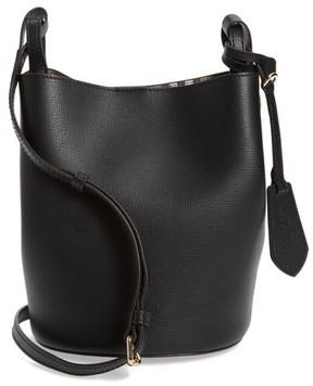 Burberry Small Lorne Leather Bucket Bag - Black - BLACK - STYLE