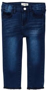 Jessica Simpson Lace Trim Denim Jean (Little Girls)