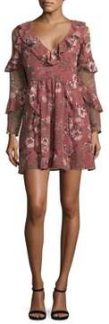 WAYF Floral Print Fit-&-Flare Dress