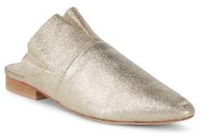 Free People Sienna Shimmering Leather Slides