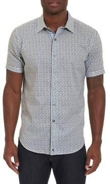 Robert Graham Men's Big & Tall Downey Geo Print Sport Shirt