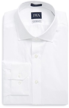 John W. Nordstrom Men's Trim Fit Solid Dress Shirt