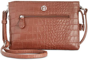 Giani Bernini Croc-Embossed Crossbody Wallet